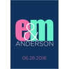 Modern Initial Monogram - Wedding Wine Labels
