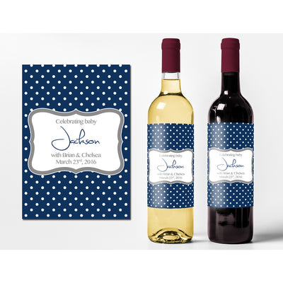 Celebrating Baby - New Baby Wine Labels