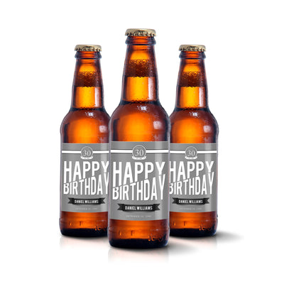 Happy Birthday - Birthday Beer Labels