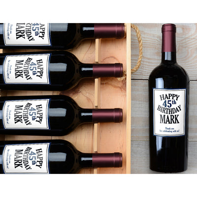 Happy Birthday - Birthday Wine Labels