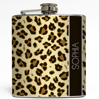 African Safari - Personalized Cheetah Flask