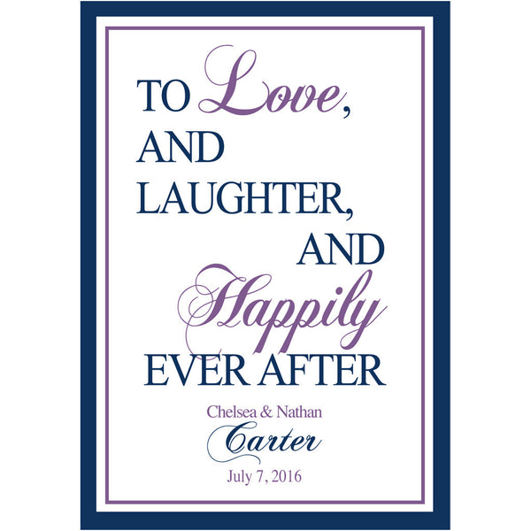 Happily Ever After - Wedding Wine Labels