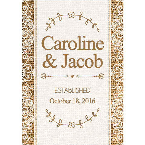 Burlap and Lace - Wedding Wine Labels