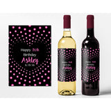 Dots & Heart - Birthday Wine Labels