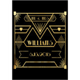 Gatsby Black and Gold - Wedding Wine Labels