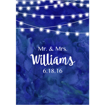 Watercolor Lights - Wedding Wine Labels