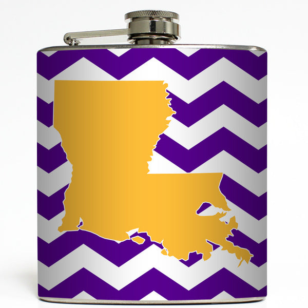 I Heart My State - Custom State Flask