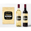 Gold Diamonds - Wedding Wine Labels