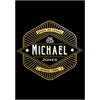 Three Barrel Black & Gold - Birthday Wine Labels