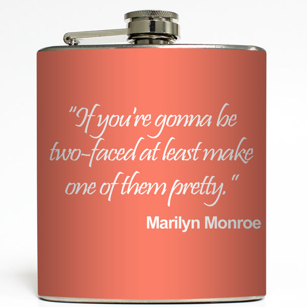 Two Faced - Marilyn Monroe Flask