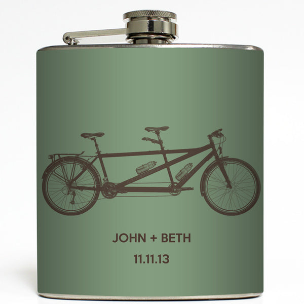 Bicycle Built For 2 - Personalized Tandem Bike Flask