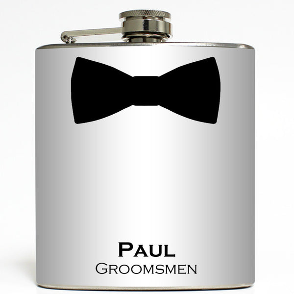 Black Tie Event - Personalized Bow Tie Flask