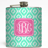 Lilly - Ikat Monogram Flask
