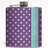Custom Polka Dot - Personalized Flask
