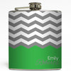 Charlotte - Personalized Chevron Flask