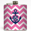 Zoey - Anchor Monogram Flask