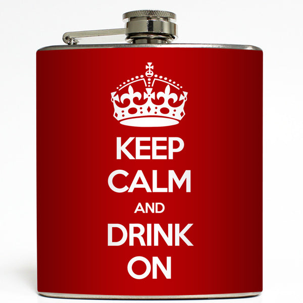 Keep Calm - Funny Flask