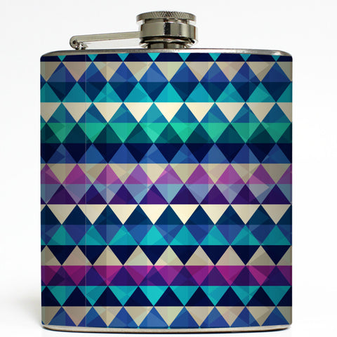 Geometric Aztec Print - Diamond Pattern Flask