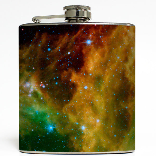 Spitzer Star Cluster - Outer Space Flask
