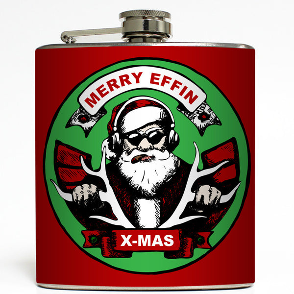 Merry Effin Xmas - Funny Christmas Flask