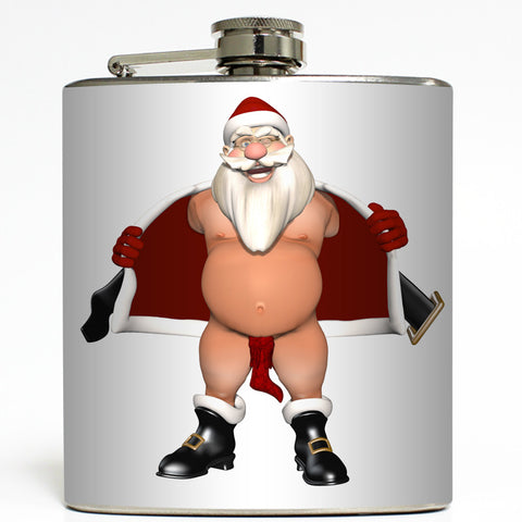 Stuffed Stocking - Flashing Santa Flask