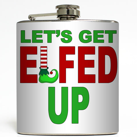 Elfed Up - Funny Christmas Flask