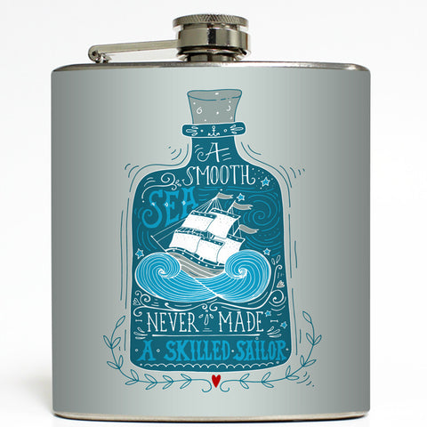 A Skilled Sailor - Nautical Flask