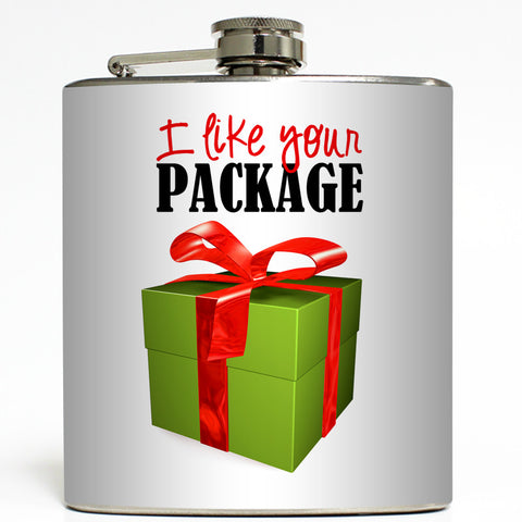 I Like Your Package - Funny Christmas Flask