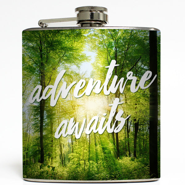 Adventure Awaits - Camping Flask