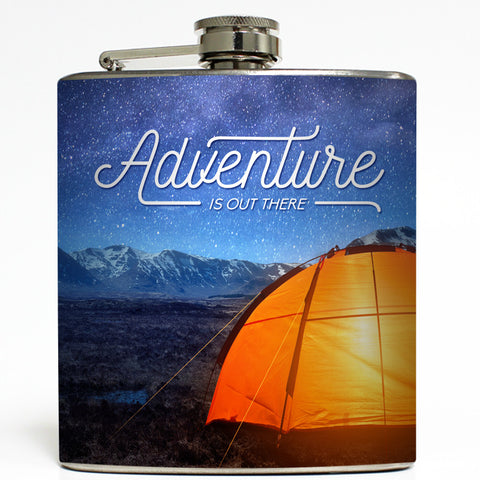 Adventure Is Out There - Camping Flask