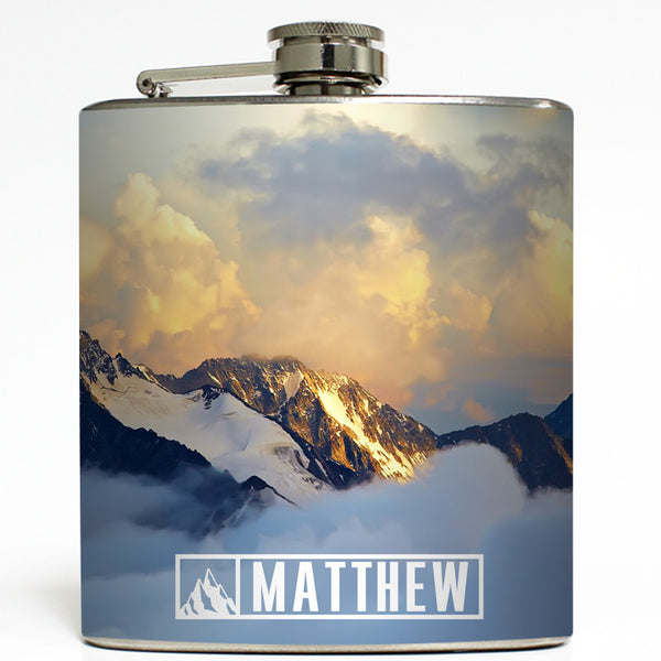 Personalized Mountain Range - Camping Flask
