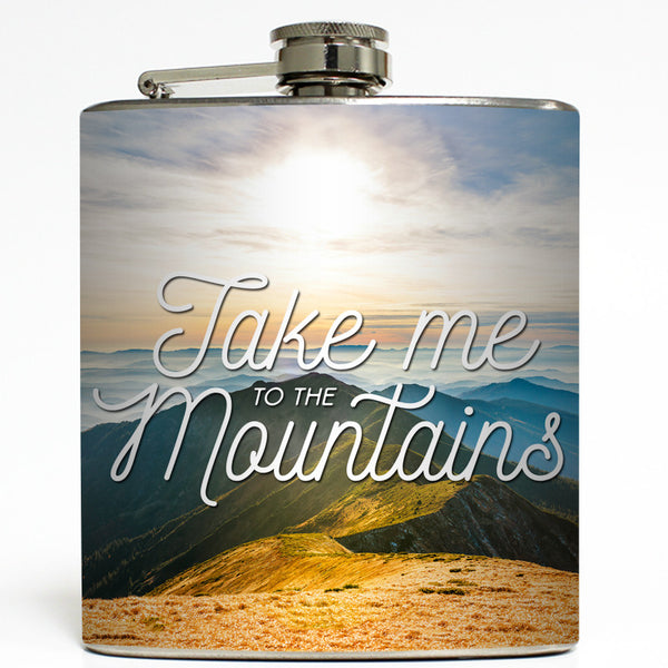 Take Me To The Mountains - Camping Flask
