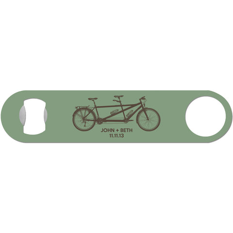 Bicycle Built For 2 - Personalized Tandem Bike Bottle Opener