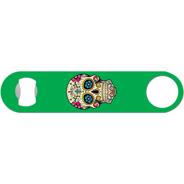Day of the Dead Skull - Green Bottle Opener