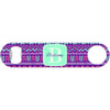 Beachy Tribal Monogram - Purple Bottle Opener