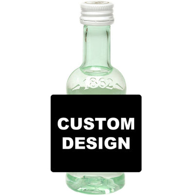 Upload Your Own Design - Custom Bacardi Mini Bottle Labels