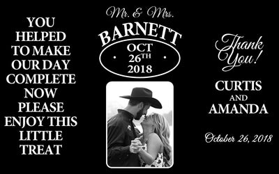 Mr. & Mrs. Photo - Wedding Mini Bottle Labels