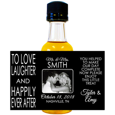 Happily Ever After - Wedding Mini Bottle Labels