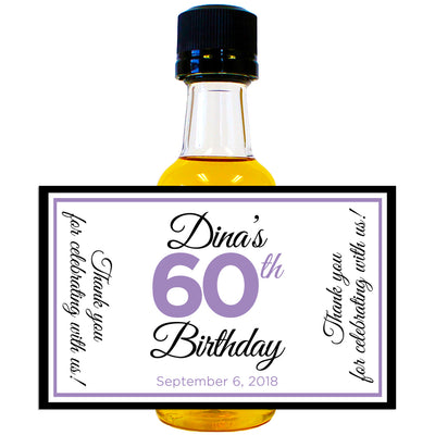 Personalized Celebration - Birthday Mini Bottle Labels