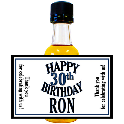 Happy Birthday - Birthday Mini Bottle Labels