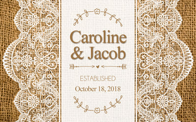 Burlap and Lace - Wedding Mini Bottle Labels