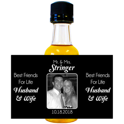 Best Friends for Life Photo - Wedding Mini Bottle Labels