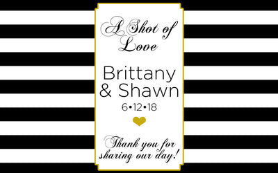 Shot of Love - Wedding Mini Bottle Labels