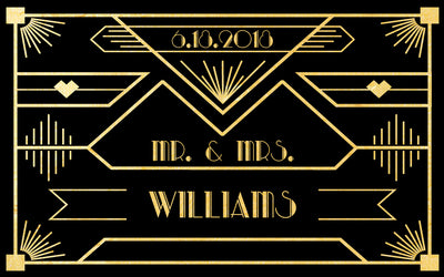 Gatsby Black and Gold - Wedding Mini Bottle Labels
