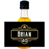 Crown Black & Gold - Birthday Mini Bottle Labels