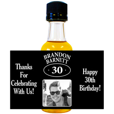 Birthday Photo - Birthday Mini Bottle Labels
