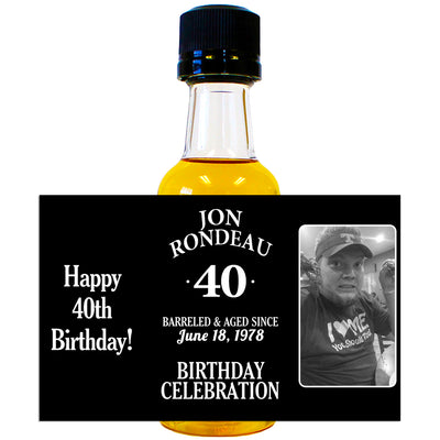 Birthday Celebration Photo - Birthday Mini Bottle Labels