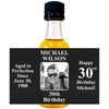 Aged to Perfection Men's Photo Front - Birthday Mini Bottle Labels