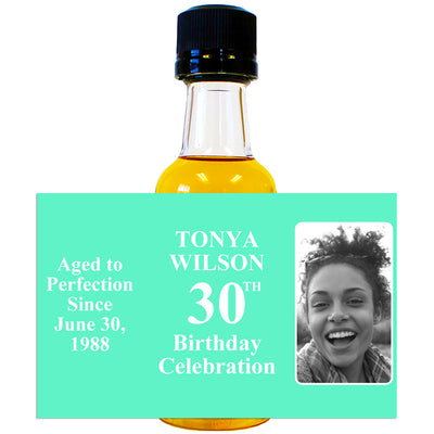 Aged to Perfection Women's Photo Front - Birthday Mini Bottle Labels