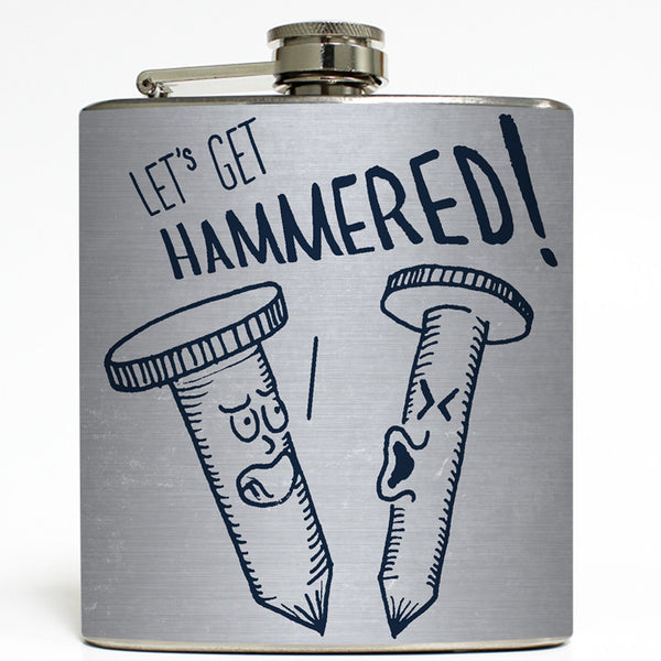 Hammered by Cognitive Surplus - Funny Flask